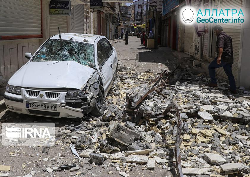 Разрушительное землетрясение в Иране, июль 2019