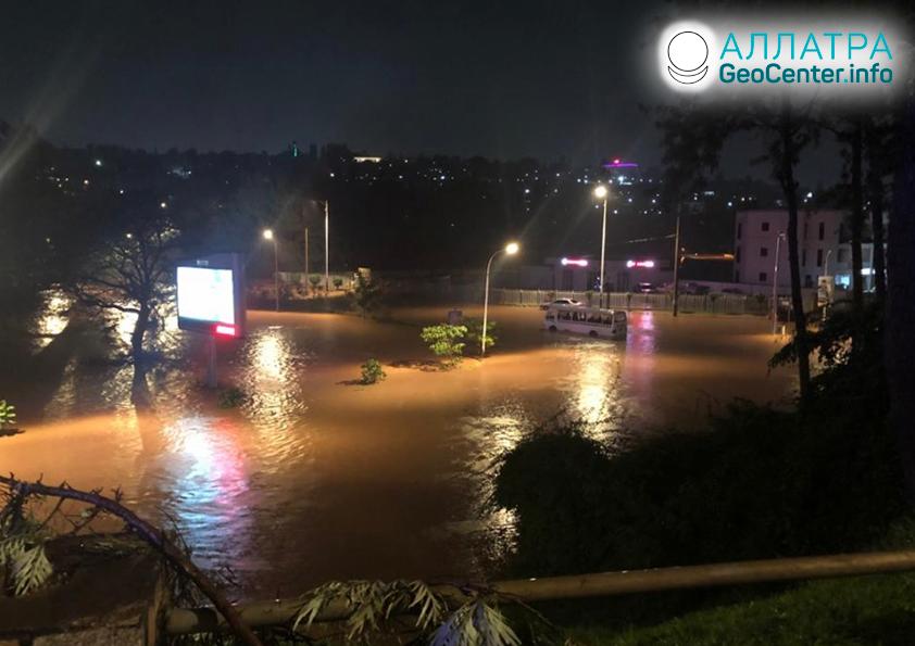 Ničivé záplavy vo Rwande, december 2019