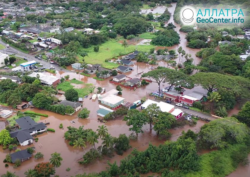 Разрушительные наводнения в мире, март 2021