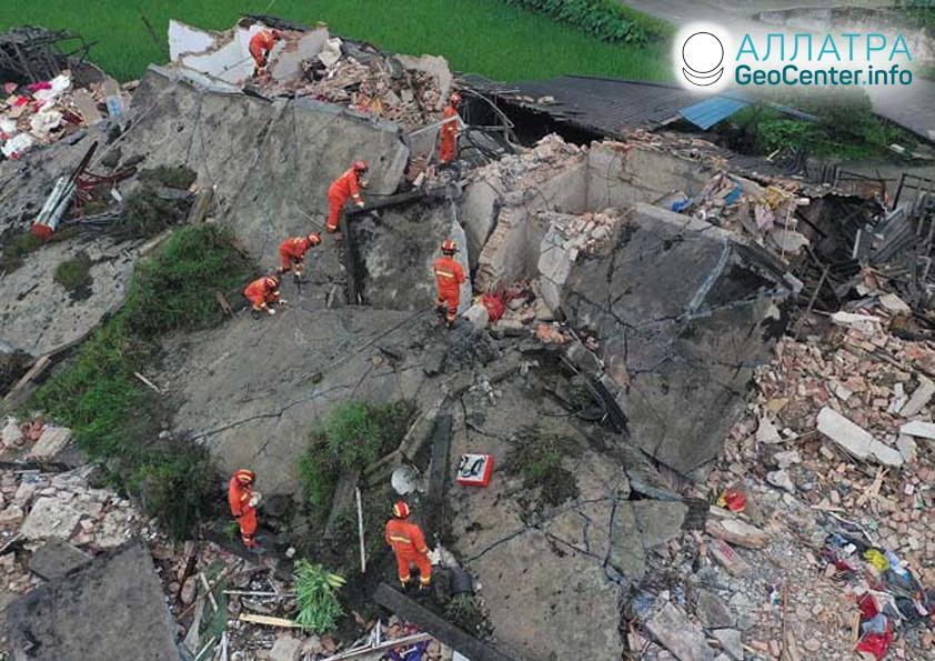 Разрушительные землетрясения в  Китае, Японии, Новой Зеландии, Индонезии, июнь 2019