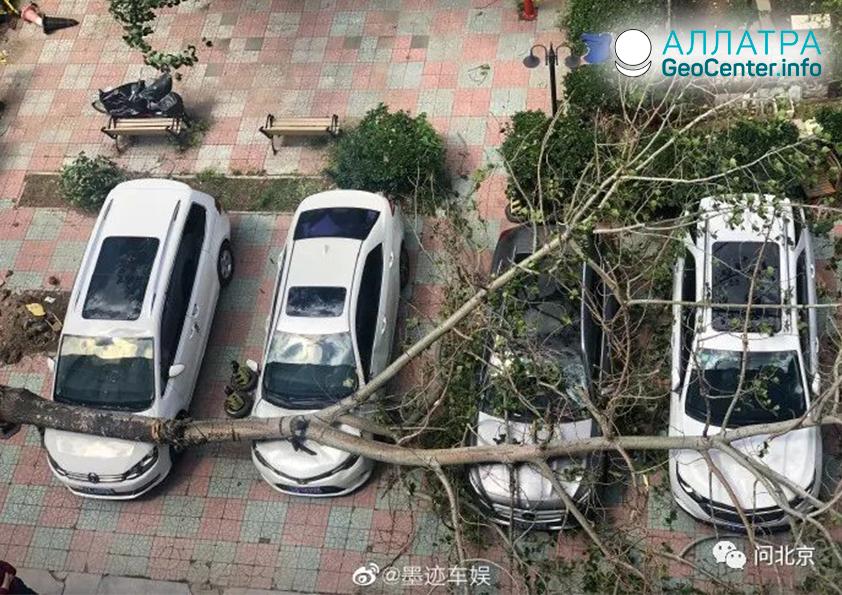 Разрушительный шквал в Китае 19 мая 2019