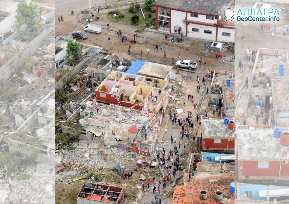 Разрушительный торнадо в Гаване, Куба, 27 января 2019