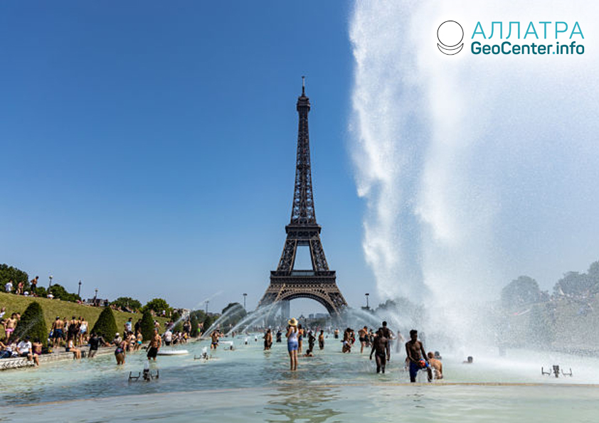 Рекордная жара во Франции в июне, 2019