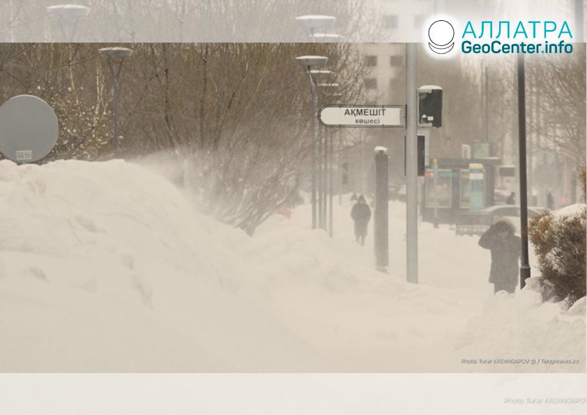 Рекордные снегопады в Казахстане, январь 2020