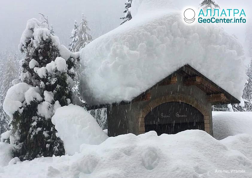 Рекордные снегопады в странах Европы, ноябрь 2019