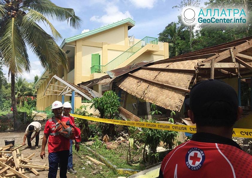 Серия мощных землетрясений на юге Филиппин, октябрь 2019