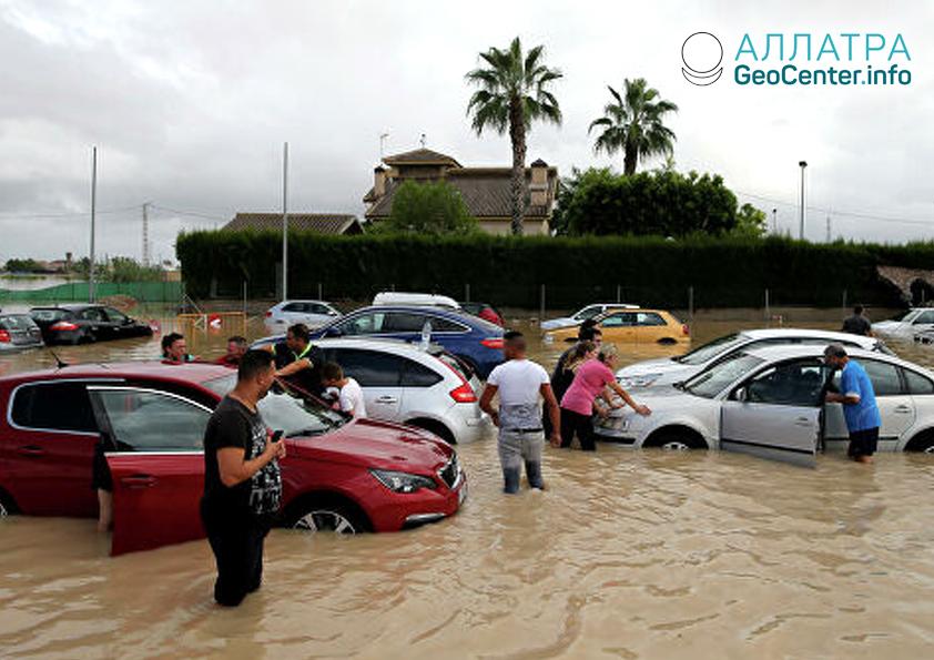 Сильные дожди в Испании, сентябрь 2019