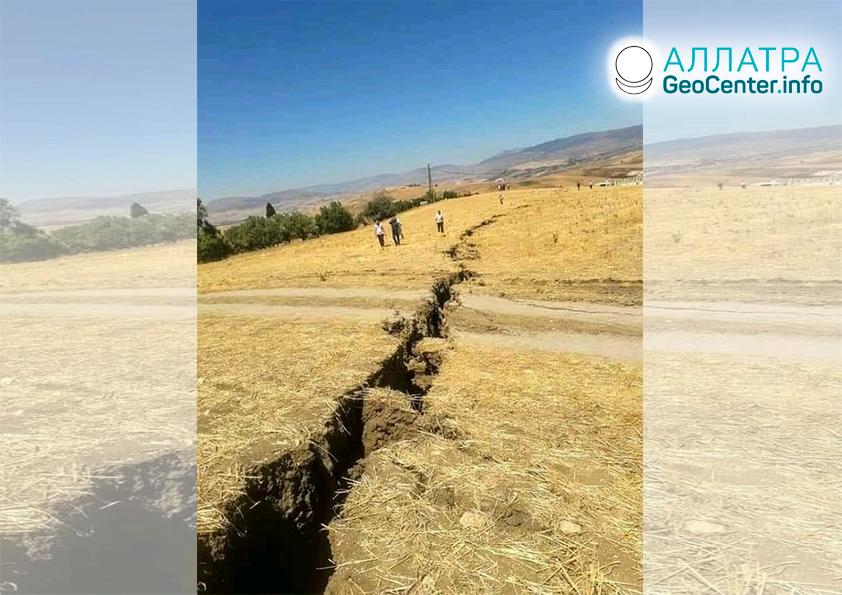 Silné zemetrasenia, začiatok augusta 2020