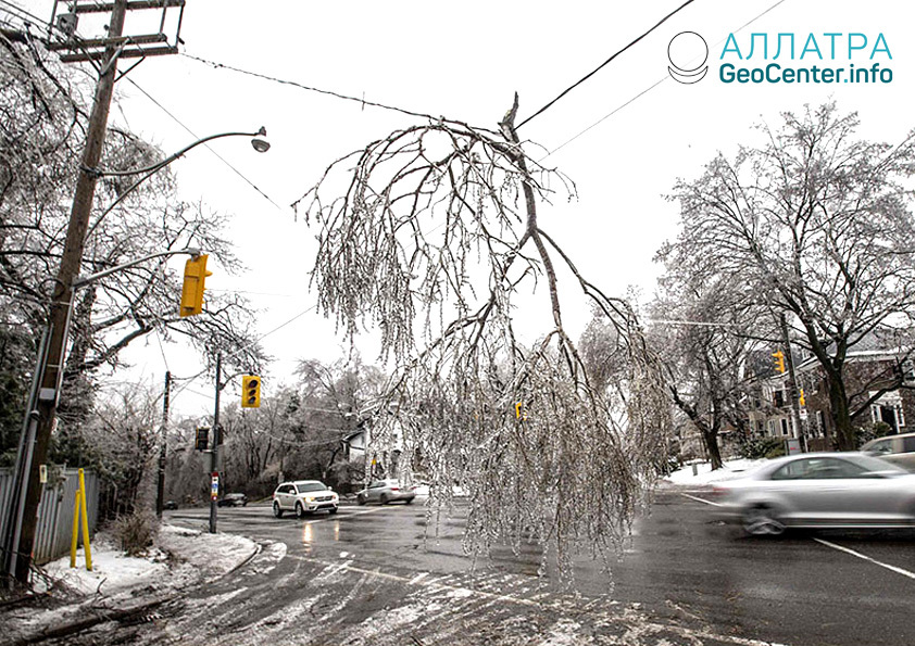 Сильный шторм в Канаде, декабрь 2018