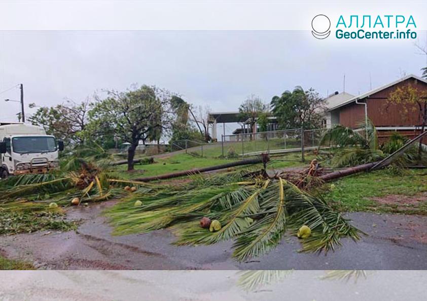 Сильный тропический циклон Тревор на австралийском полуострове Кейп-Йорк, март 2019