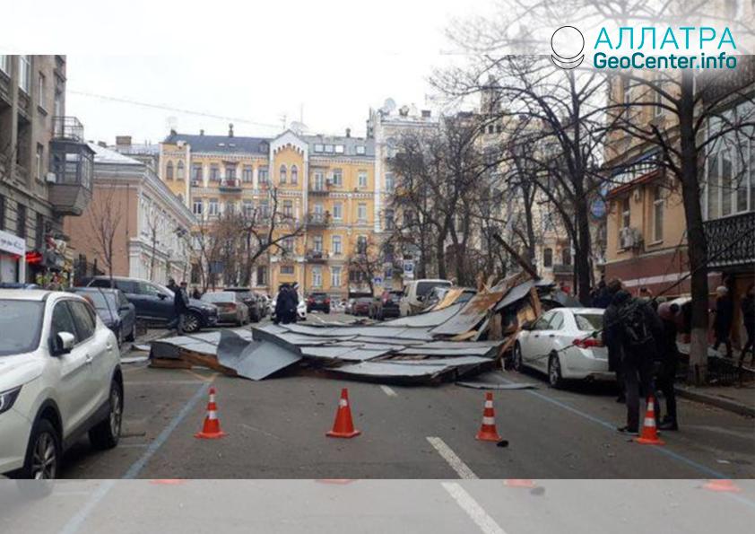 Silný vítr na Ukrajině, březen 2019