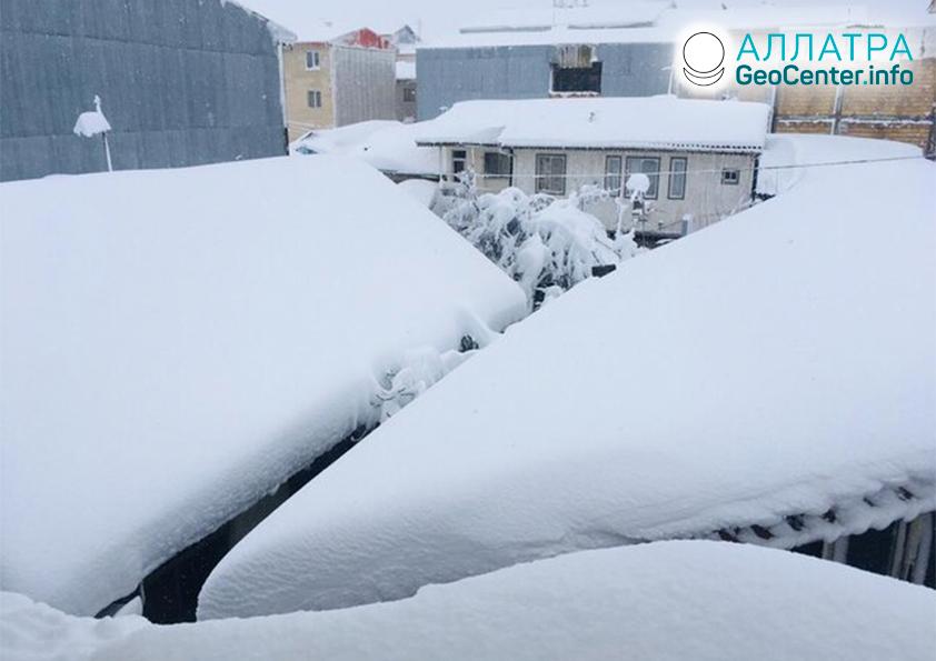 Снегопады в Иране, февраль 2020