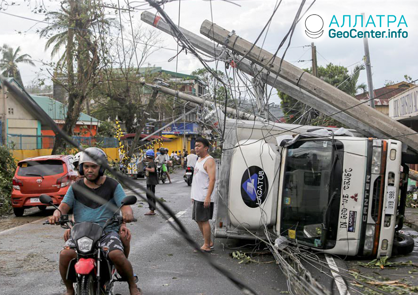"""Tajfún """"Kammuri"""" na Filipínach, december 2019"""