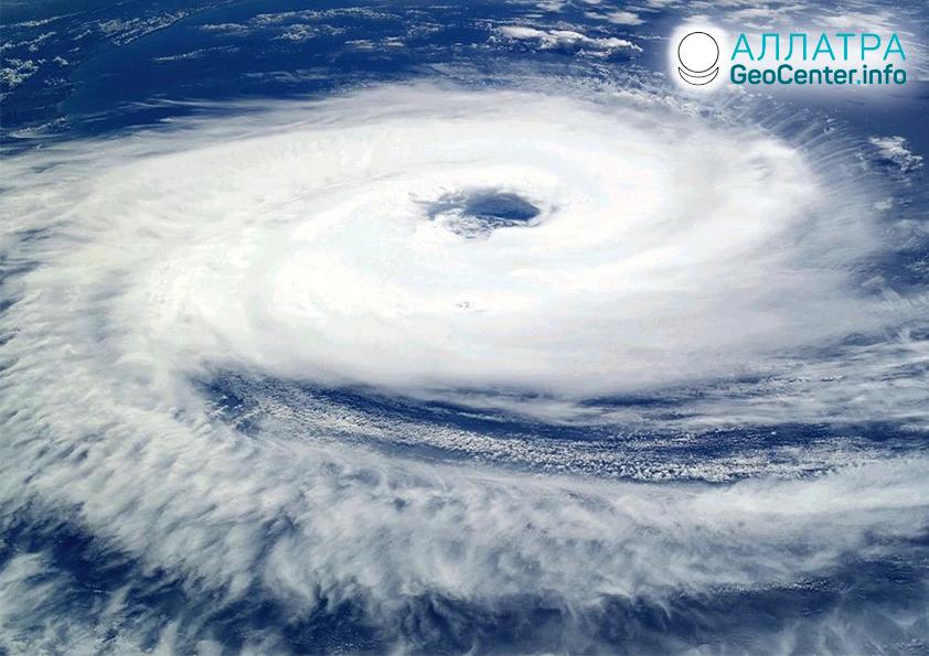 Тайфуны и ураганы, октябрь 2020