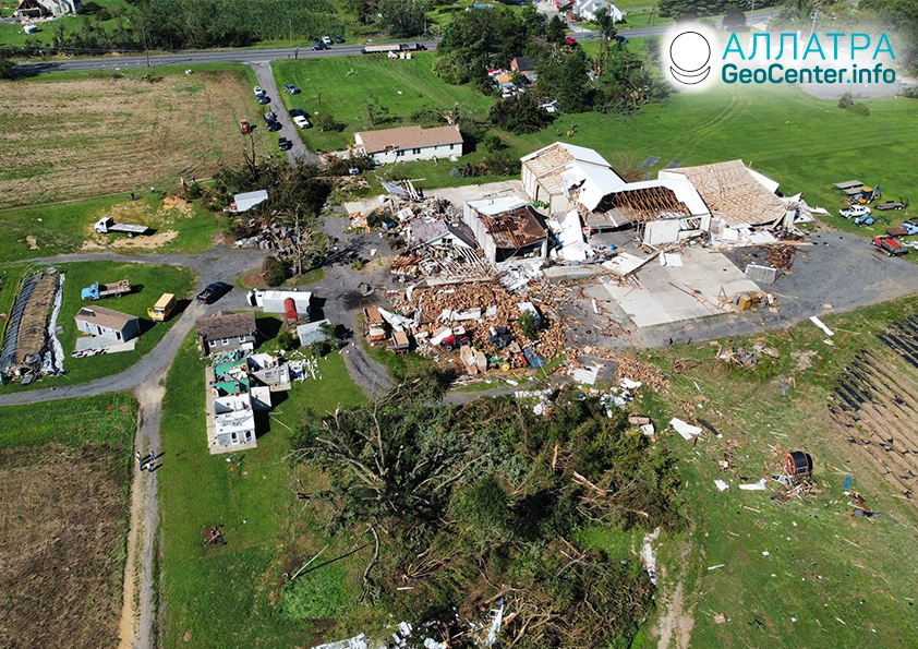 Торнадо на планете, первая половина сентября 2021