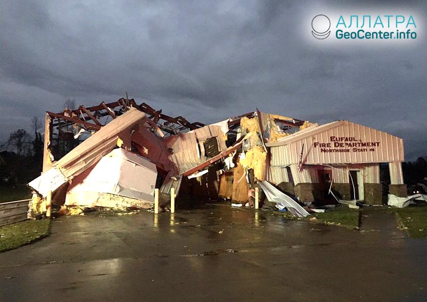 Торнадо в штатах Алабама и Джорджия, март 2019