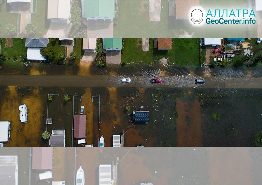 Тропический шторм обрушился на США, сентябрь 2019