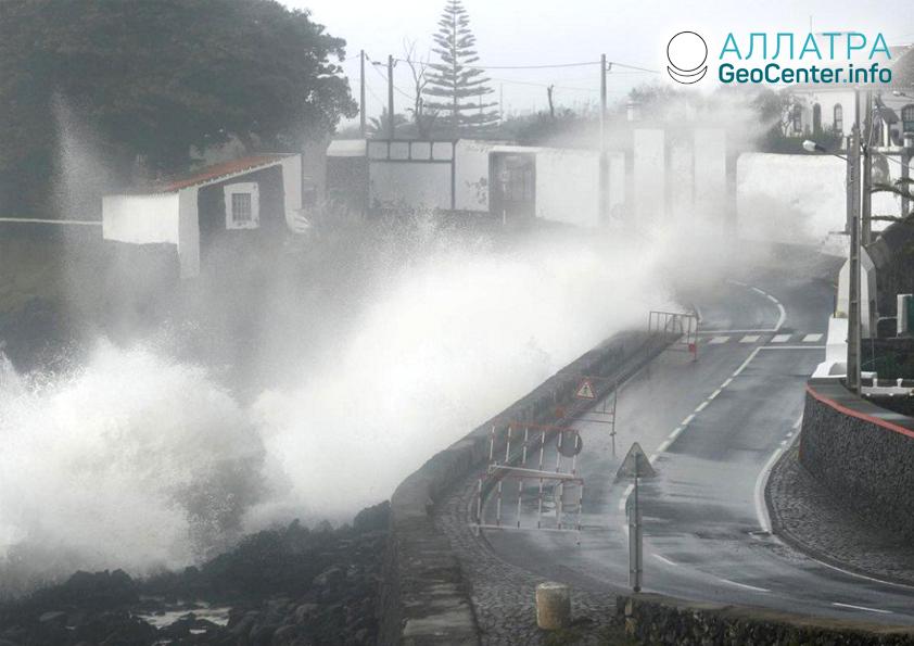 Hurikán ,,Lorenzo'' v Portugalsku, Říjen 2019