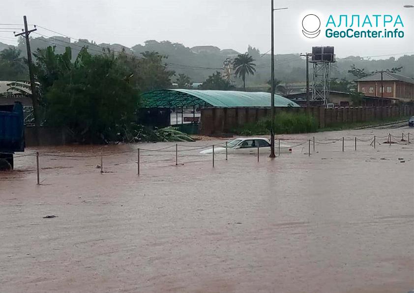 Внезапные наводнения и оползни в мире, июль 2020