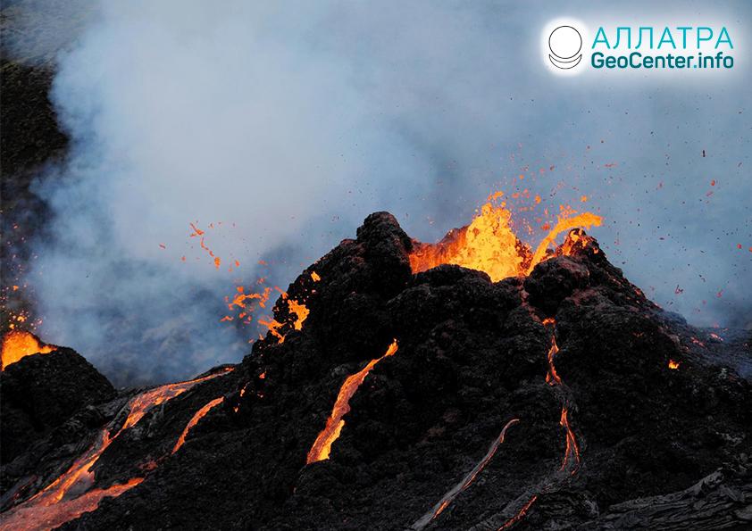 Вулканическая активность в середине марта 2021