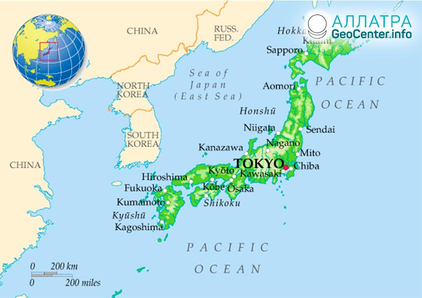 Землетрясение у берегов Японии, август 2019
