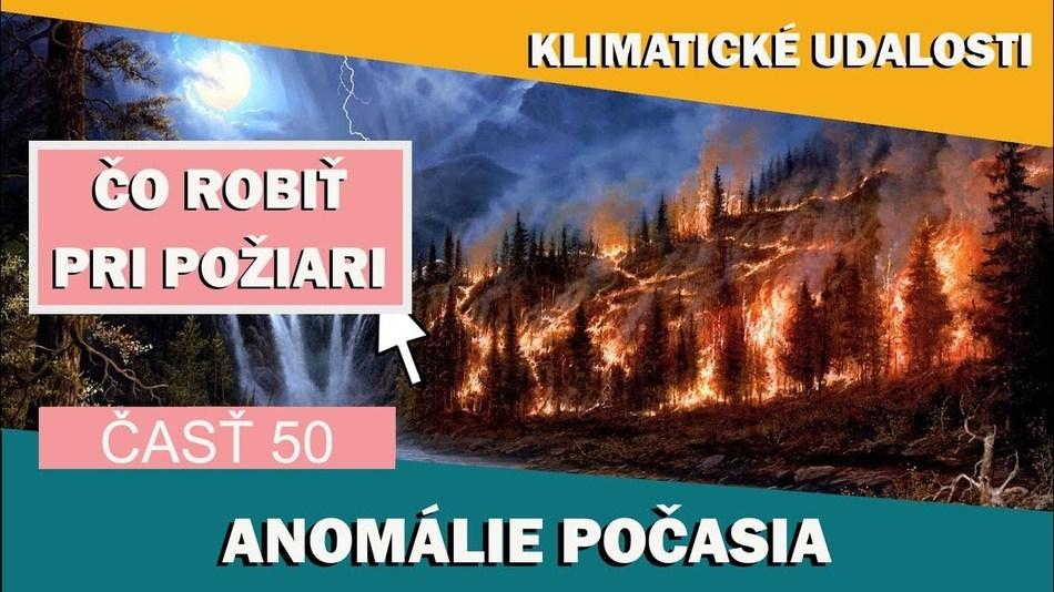 Klimatické události ve světě  11.2. - 17.1.2017. Co dělat při požárech