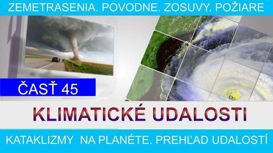 Klimatické události ve světě 7.-13.1.2017