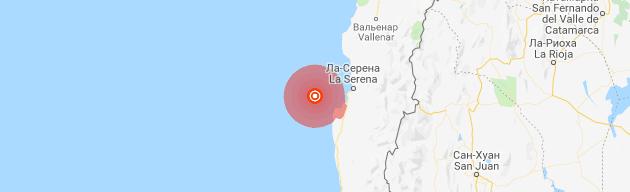 Землетрясение магнитудой 6,5 у берегов Чили, июнь 2019