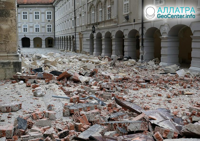 Obyvatelia Chorvátska pocítili silné zemetrasenie, marec 2020