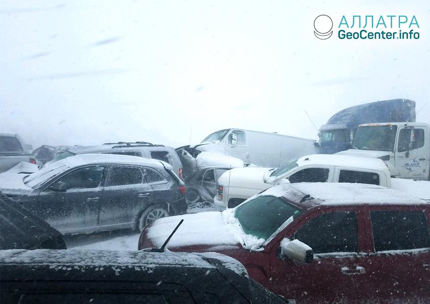 Зимний шторм Ульмер в США, март 2019
