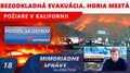 POŽIARE v KALIFORNII: bezodkladná evakuácia. Horia mestá! V JAPONSKU sa potopil ostrov