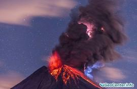 Извержение вулкана Колима в Мексике