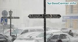 Снегопад в Одессе, 16 января 2018