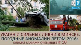 Ураган и сильные ливни в Минске. Погодные аномалии летом 2016. Климат глазами очевидцев.  Выпуск 10
