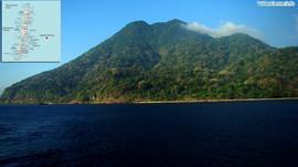 Наблюдение за островом-вулканом Баррен (Индия)