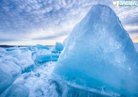 Прекрасные пейзажи из синего льда в Мичигане, март 2018