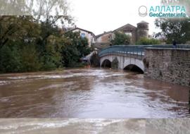 Наводнение во французской коммуне, ноябрь 2018