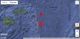 Серия мощных землетрясений у Фиджи, август 2018 г.