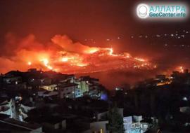 Крупные лесные пожары в мире, октябрь 2020