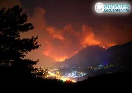 Лесные пожары в Турции, июль 2019