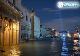 Povodně v Benátkách, listopad 2019