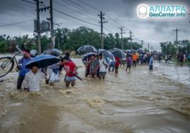 Наводнения и оползни в Непале, июль 2019
