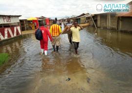 Наводнения в Уганде, май 2020