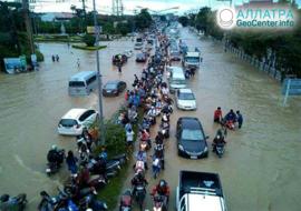 Разрушительные наводнения и оползни, конец августа 2021