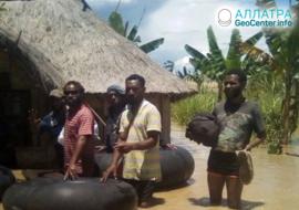 Ničivé záplavy v Papui Nové Guineji, březen 2020