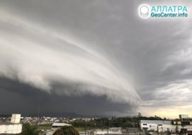 Búrky v Eurázii a Južnej Amerike, jún-júl 2020