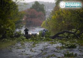 Сильные штормы на планете, октябрь 2020