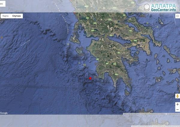 Землетрясение у берегов Греции 27 сентября 2018 г.