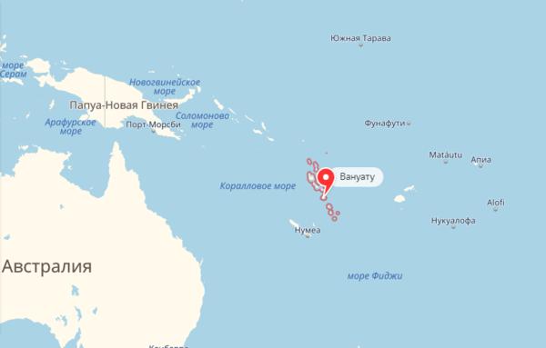 Подземные толчки в Вануату 21 июня 2018 г.