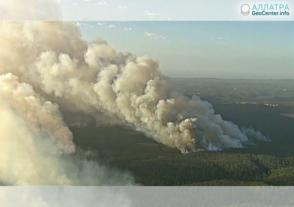 Лесной пожар под Сиднеем, апрель 2018 г.